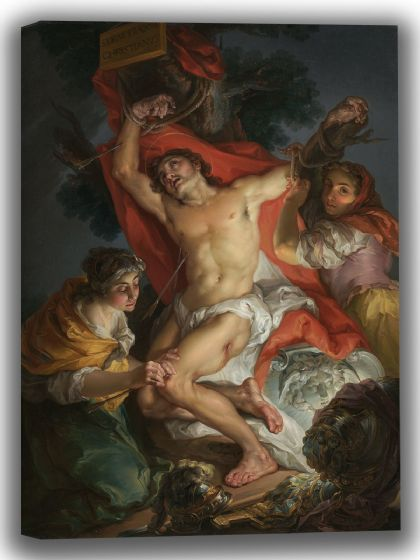 Lopez, Vicente: Saint Sebastian Tended by Saint Irene. Fine Art Canvas. Sizes: A4/A3/A2/A1 (004040)